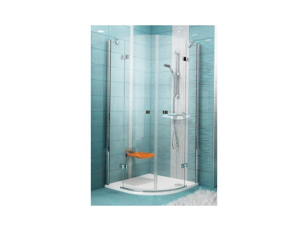 Ravak SmartLine - dizajnový štvrťkruhový oblý sprchový kút 90 x 90 cm  SMSKK4-90