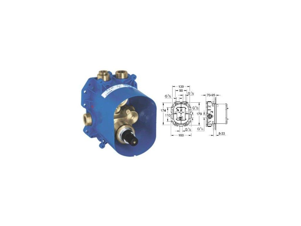 Grohe Rapido - podomietkové teleso k podomietkovej termostatickej batérii 35500000