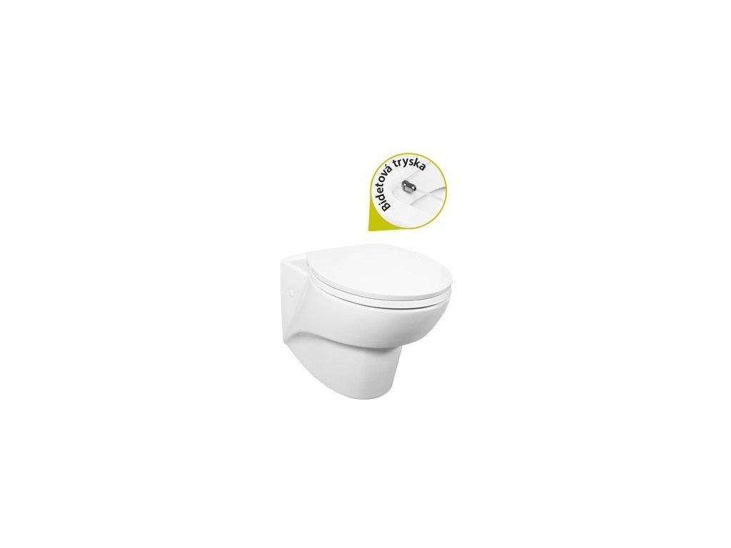 Creavit Jaws - závesné WC + bidet 2v1 JW320