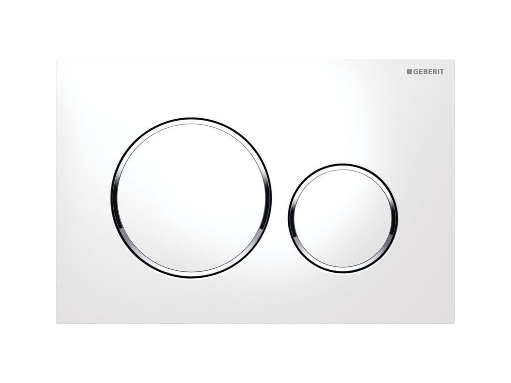 Novinka Geberit Sigma 20 tlačidlo biele/lesklý chróm/biela 115.882.KJ.1