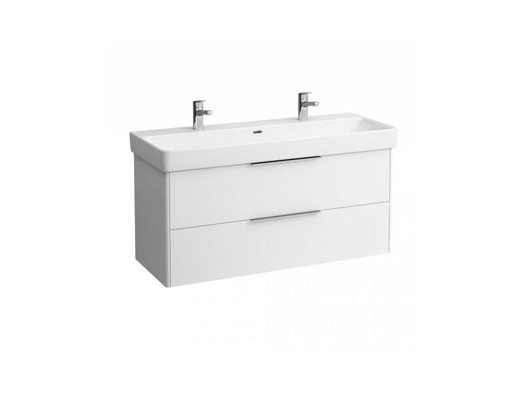 Laufen Base skrinka lesklá biela pod dvojumývadlo Laufen Pro S 120x46 cm