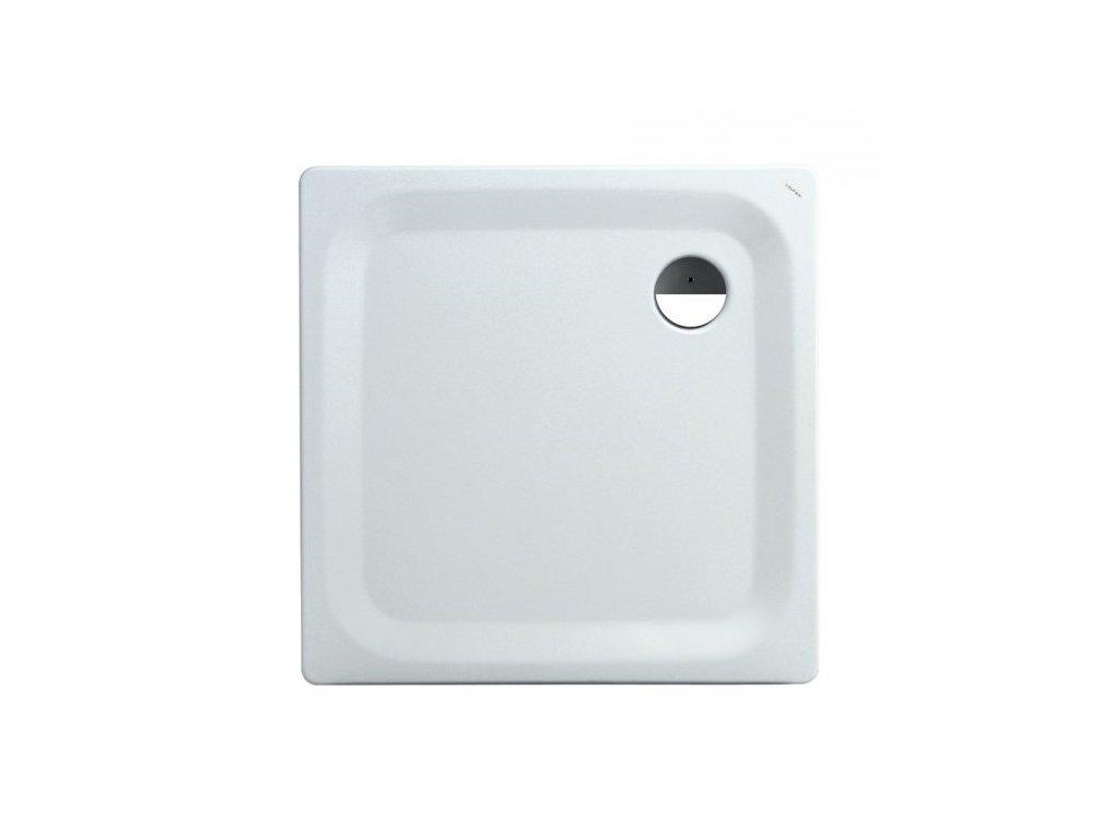 Laufen Platina oceľová sprchová vanička biela 90x90x2,5 cm