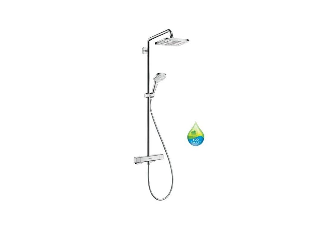 Hansgrohe CROMA E sprchový systém Showerpipe 280 1jet EcoSmart so sprchovým termostatom chróm 27660000 kupelnashop.sk