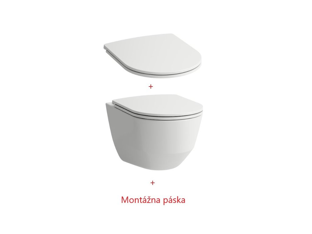 Laufen Pro Pack Rimless WC a spomaľovacie slim WC sedadlo 8669570000001 Kupelnashop.sk 10