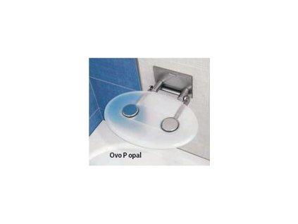 Ravak Ovo - opal - sprchové sedadlo priesvitné biele