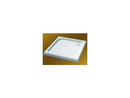 Huppe Verano - Sprchová vanička hranatá, liaty mramor 90 x 90 cm, farba biela