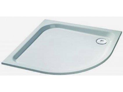 Huppe Verano - Oblá sprchová vanička liaty mramor 80 cm, farba biela