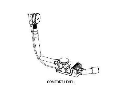 Kaldewei Comfort Level - vaňový sifón, chrómové ovládanie 4001