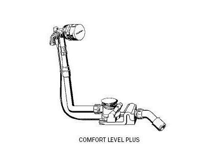 Kaldewei Comfort Level Plus - vaňový sifón s napúšťaním 4011