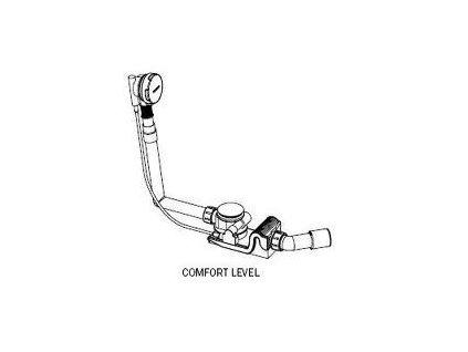 Kaldewei Comfort Level - predĺžený vaňový sifón, chrómové ovládanie 4002