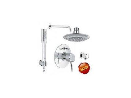 Grohe SET 3 - sprchový systém pod omietku, Grohe komplet, páková batéria, chróm