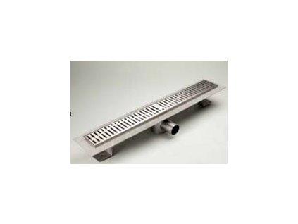 Riho Classic sprchový podlahový žlab 100 s prirubou a mriežkou quadrato 404496