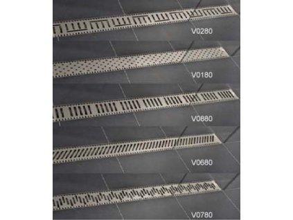 Viva Classic - 80 cm nerezová sprchová mriežka pre žľaby Classic a Lift