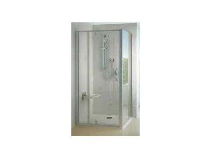 Ravak PPS - 90 bočná pevná stena, farba Satin, výplň transparentné sklo