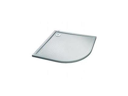Huppe Purano oblá sprchová vanička liaty mramor 80cm, farba biela, 202150