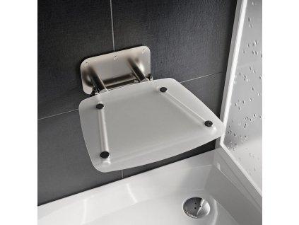 Ravak Ovo B clear sprchové sedadlo