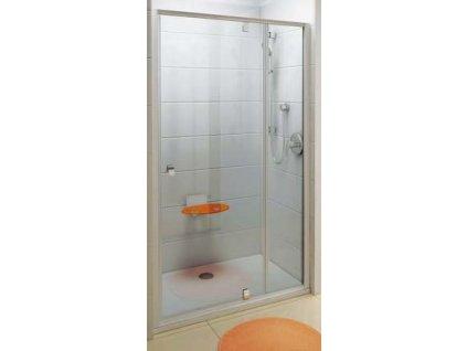 Ravak PDOP2 - 120 Dvojdielne otočné sprchové dvere, výplň číre sklo, profil biely