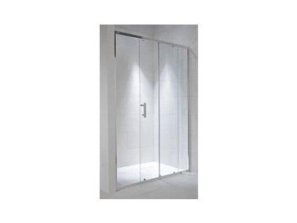 Jika Cubito Pure sprchové dvere L/P strieborný lesklý profil transparentné sklo kupelnashop.sk