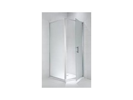 Jika Cubito Pure bočná stena strieborný lesklý profil transparentné sklo kupelnashop.sk