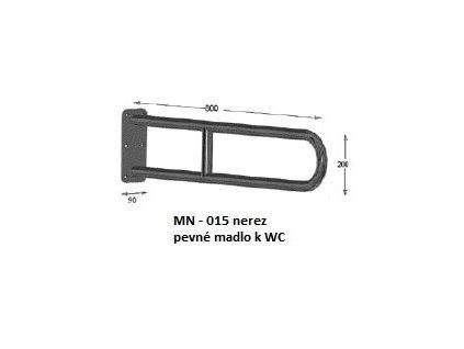 Viva MN - 015 nerezové pevné madlo k WC 80 x 20 cm MN-015