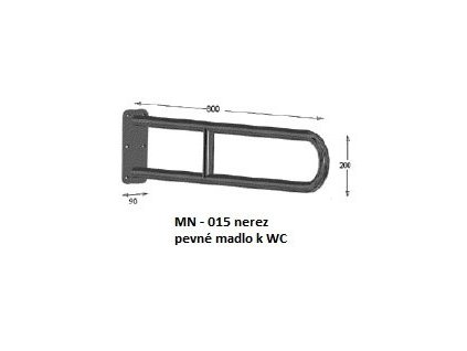 Viva MK - 008 sklopné madlo ( komaxit - biele ), 80x20cm, MK-008