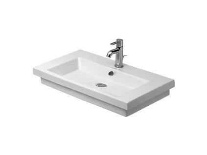 Duravit 2nd floor umývadlo brúsené na dosku 70x46 cm, 0491700027