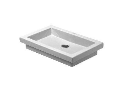 Duravit 2nd floor umývadlová misa 58x41,5cm, bez prepadu a bez plochy na batériu, 0317580