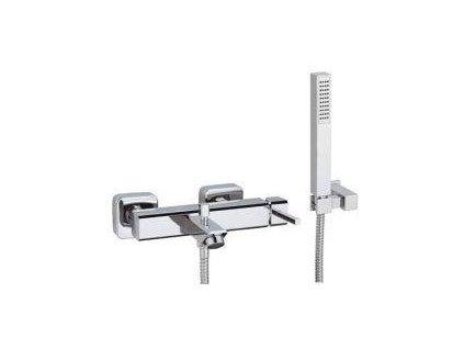Výpredaj Teorema Profilo 53150 hranatá vaňová batéria+vaňový set(hadica150cm,sprška,hadica,držiak)