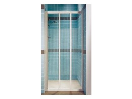 Ravak ASDP3 - 80 trojdielne posuvné sprchové dvere, výplň číre sklo, prevedenie rámu biela alebo satin - chróm
