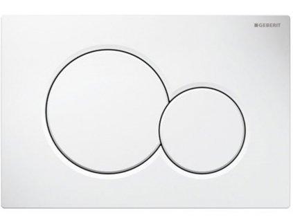 Geberit Sigma 01 - plastové tlačidlo bielej farby 115.770.11.5