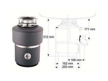Blanco drvič kuchynského odpadu s pneumatickým ovládačom M100 kupelnashop.sk