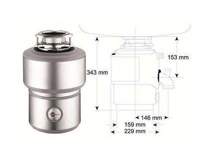 Blanco drvič kuchynského odpadu s pneumatickým ovládačom M200 kupelnashop.sk