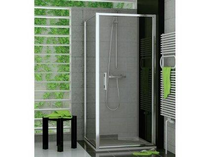 Ronal Sanswiss Top-Line 80 sprchové dvere,číre sklo+úprava skla Aquaperle,profil Aluchrom