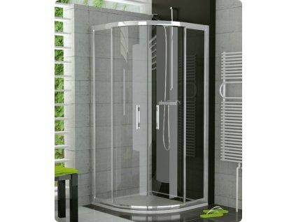 Ronal Sanwiss Top-Line 90 oblý sprchový kút s dvojdielnými posúvnými dverami TOPR 900
