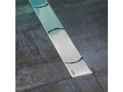 Ravak Chrome 850 nerezový sprchový žľab s nerezovou mriežkou 85 cm