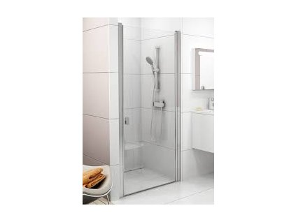 CHROME Sprchové dvere CSD1-80 s transparentným sklom s povrchovou úpravou, jednodielne Ravak