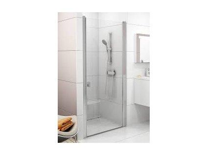 CHROME Sprchové dvere CSD1-90 s transparentným sklom s povrchovou úpravou, jednodielne Ravak