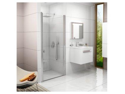 CHROME Sprchové dvere CSD1 90 s transparentným sklom s povrchovou úpravou, jednodielne Ravak kupelnashop (1)