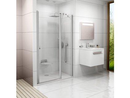 CHROME sprchové dvere RAVAK, dvojdielne s transparentným sklom CSD2 100 cm0QVAC100Z1 kupelnashop.sk