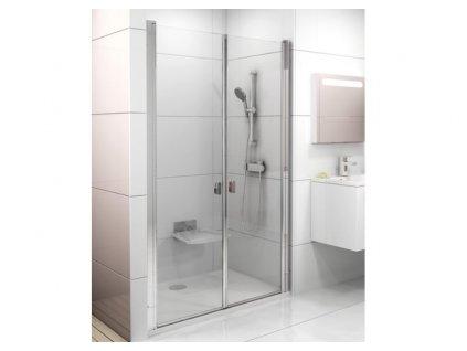 CHROME sprchové dvere, dvojdielne s transparentným sklom RAVAK 120 cm CSDL2 kupelnashop.sk