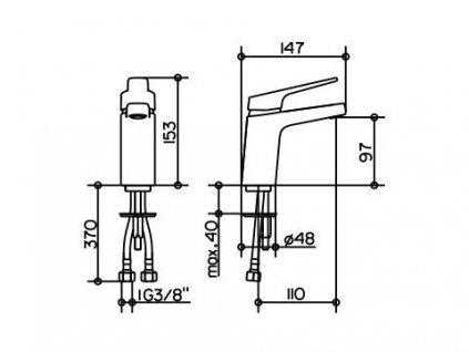 Keuco Moll - umývadlová batéria s výpusťou 52704010000