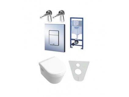 Akciový set Grohe nádržka 38772+tlačítko+Villeroy&Boch omnia wc s úpravou C+ spomalovacie wc sedátko