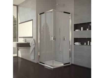 Ronal Sanswiss Valea - rohový sprchový kút 90 x 90 cm, číre sklo