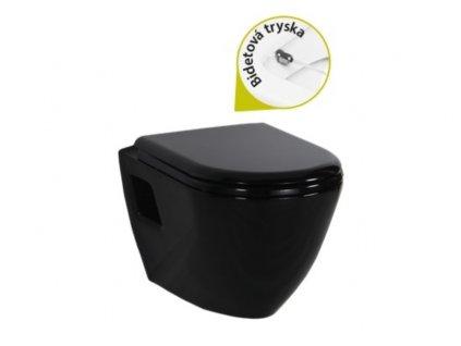 Novinka Craevit Tekko 325 čierne wc+bidet 2v1 kupelnashop.sk