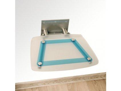 Ravak Ovo B decor sprchové sklopne sedadlo bleuline