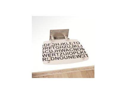 Ravak Ovo B decor text sklopné sprchové sedadlo