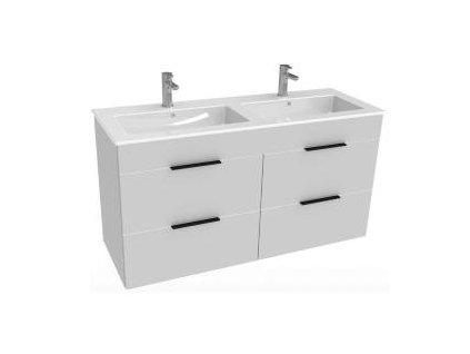 Jika Cube skrinka so zásuvkami biela+ keramicke dvojumyvadlo kod: kupelnashop.sk