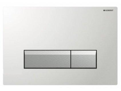 Geberit Sigma 40 tlačidlo s odsávaním zápachu s filtráciou, biely plast a  hliník 115.600.KQ.1
