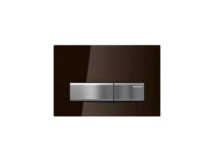 Geberit Sigma 50 tlačidlo kovové hnedé sklo 115.788.SQ.5