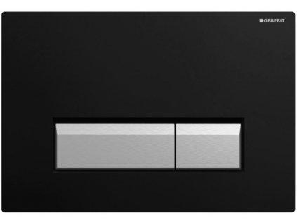 Geberit Sigma 40 tlačidlo s odsávaním zápachu s filtráciou,čierny plast a hliník ,kod:115.600.KR.1